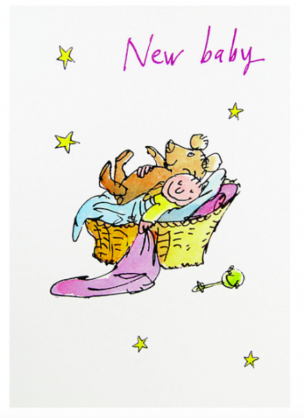 Card - Quentin Blake New Baby